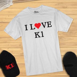 I LOVE K1 - T-Shirt (weiss)...