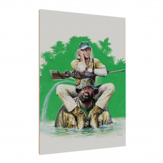 Holzdruck - Das Krokodil...